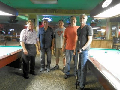 TOP GUNS FINAL 4: Chris Argenta 2d; Mike Sr. room owner; John Sungail 3d; Scott Nodell winner; Dean Allen 4th