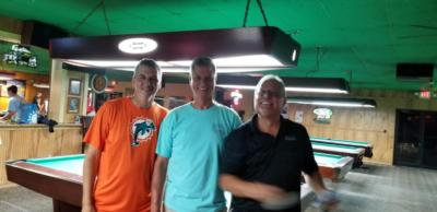 Top three: Jeff Hughes, 3d; Roy Bertolozzi 2d; Lou Deluca 3d